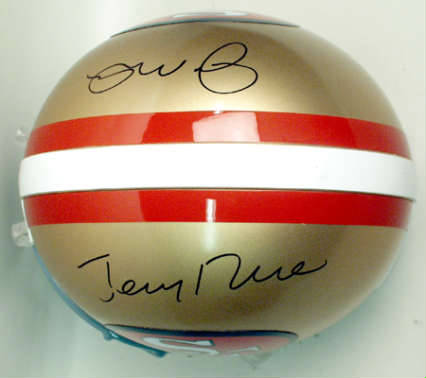 Autographed Joe Montana & Jerry Rice