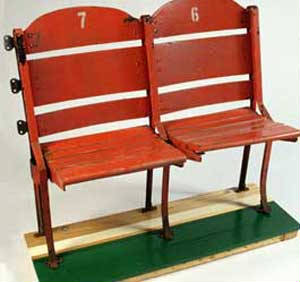Autographed Boston Garden Chair