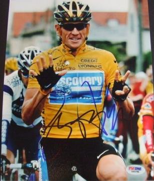 Autographed Lance Armstrong