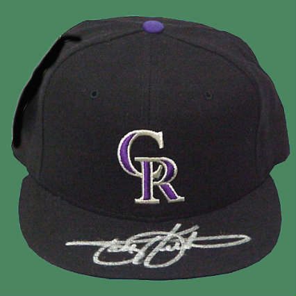 Autographed Todd Helton