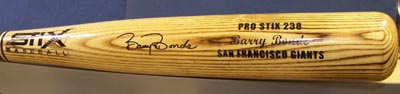 Autographed Barry Bonds