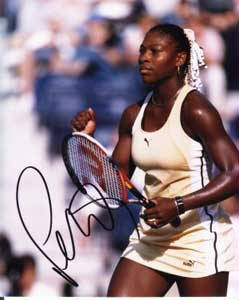 Autographed Serena Williams