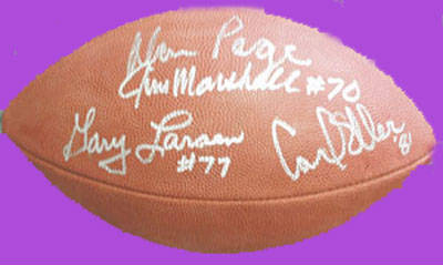 Autographed Purple People Eaters