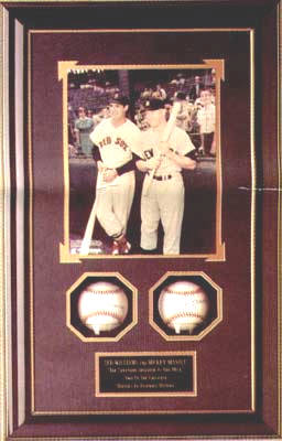 Autographed Mickey Mantle & Ted Williams