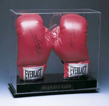 Autographed Double Boxing Glove Display