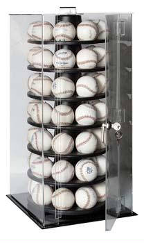 Autographed 56 Baseball Rotating Display Case
