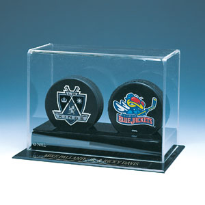 Autographed Deluxe 2 Hockey Puck Display