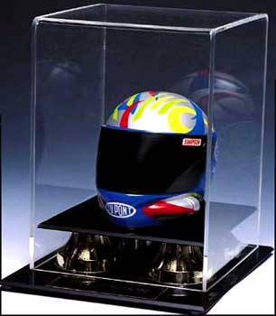 Autographed Nascar Mini Racing Helmet Display