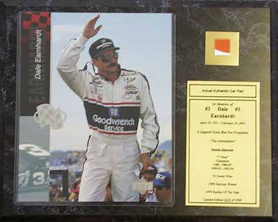 Auto Dale Earnhardt Legend Racing on Dale Earnhardt Hand Signed Miscellaneous Item With Certificate Of
