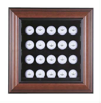 Autographed 20 Golf Ball Display