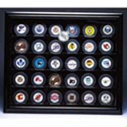 Autographed 30 Hockey Puck Display