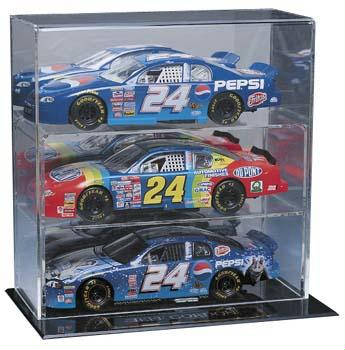 Autographed 3 Die Cast Car Display Case