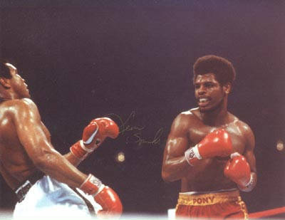 Autographed Leon Spinks