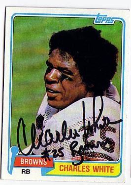 Autographed Charles White