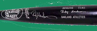 Autographed Rickey Henderson