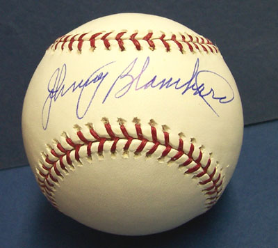 Autographed Johnny Blanchard