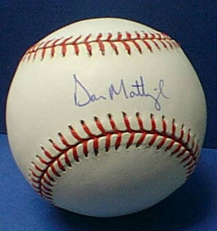 Autographed Don Mattingly