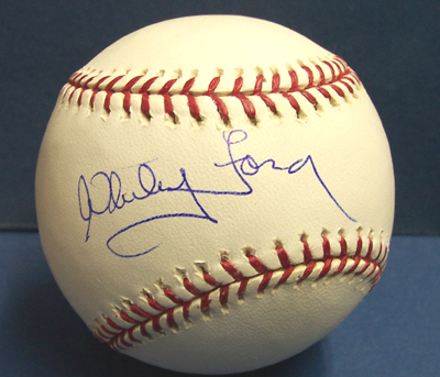 Autographed Whitey Ford