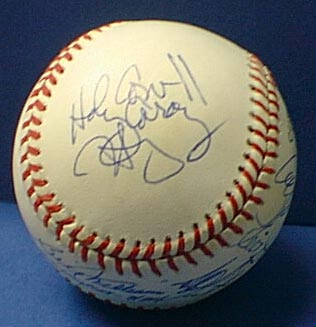Autographed Harry Caray