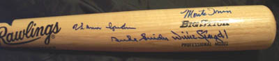 Autographed Hall of Famers Bat