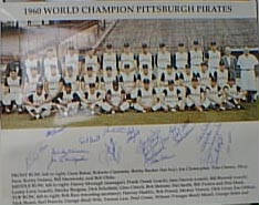 Autographed 1960 Pittsburgh Pirates