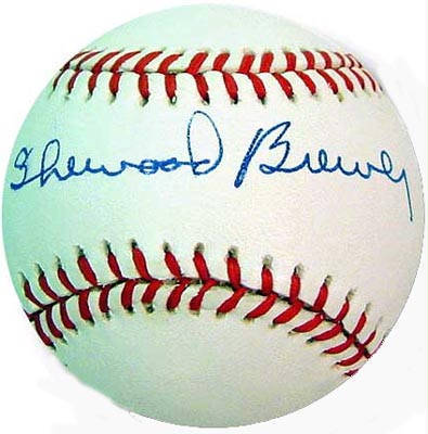 Autographed Sherwood Brewer