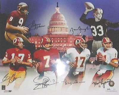 Autographed Redskins Quarterbacks