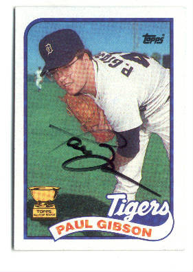 Autographed Paul Gibson