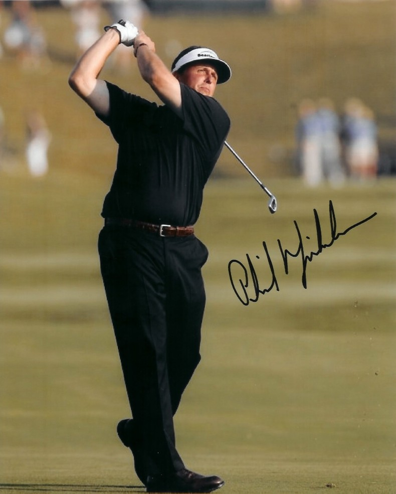 Autographed Phil Mickelson