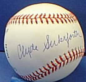 Autographed Clyde Sukeforth