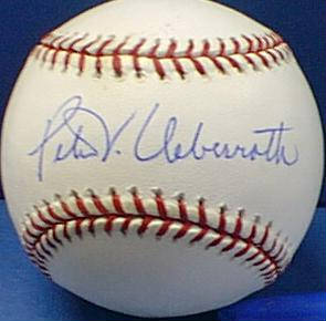 Autographed Peter Ueberroth