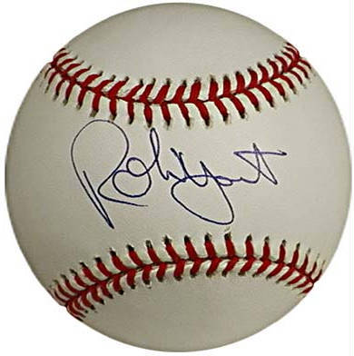 Autographed Robin Yount