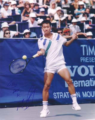 Autographed Michael Chang