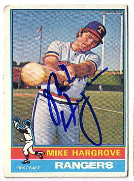 Autographed Mike Hargrove