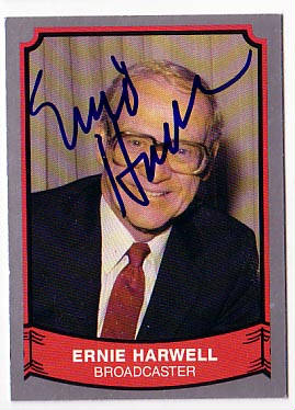 Autographed Ernie Harwell
