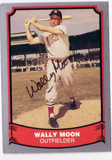 Autographed Wally Moon