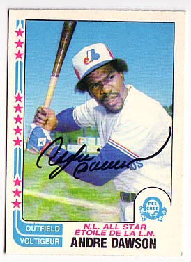 Autographed Andre Dawson