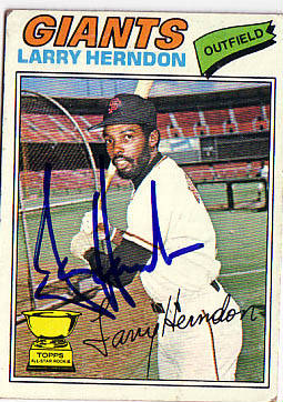 Autographed Larry Herndon