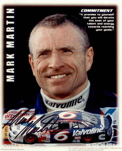 Autographed Mark Martin