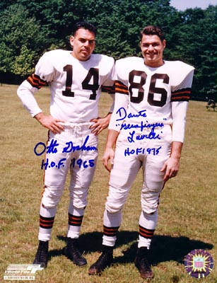 Autographed Otto Graham and Dante Lavelli