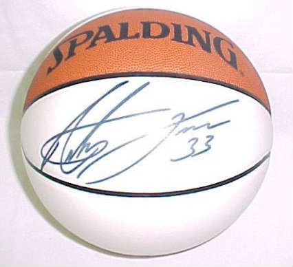 Autographed Antawn Jamison