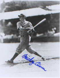 Autographed Mickey Owen