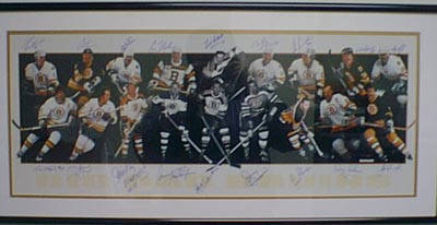 Autographed Boston Bruins Goons Lithograph
