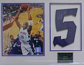 another chance 9b9ad a0cd1 Vince Carter Autographed Jersey