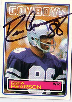 Autographed Drew Pearson