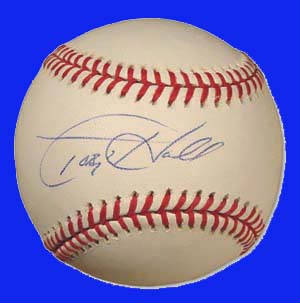 Autographed Toby Hall