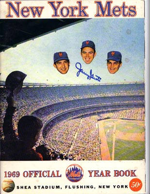 Autographed 1969 New York Mets Replica Yearbook