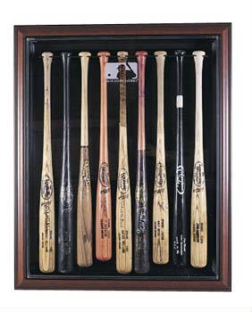 Autographed 9 Baseball Bat Display Case Cube