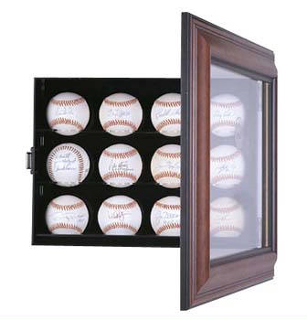 Autographed 12 Baseball display case cube