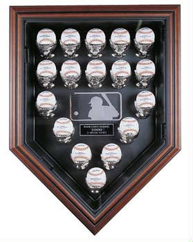 Autographed 17 Baseball Home Plate display case cube